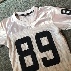 89 White and blue jersey
